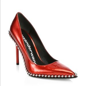 Alexander Wang Rie Smooth Leather Studded Pumps